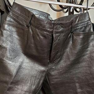 Gap 5 pocket leather Jean's size 8
